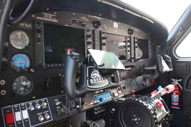 Instrument Panel on the Quest Kodiak 100 acquired by Kasper Air
