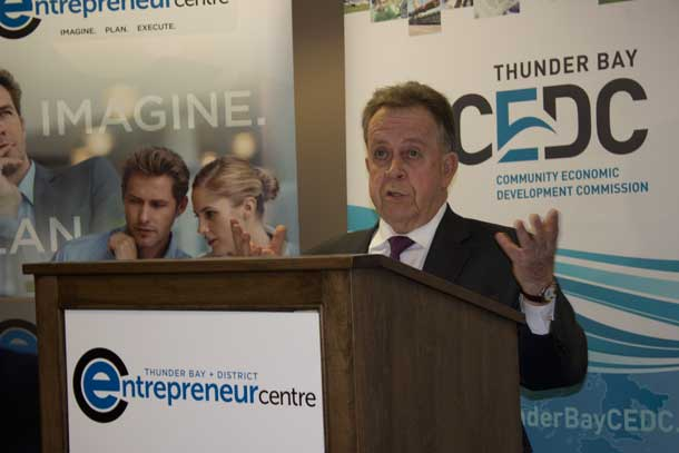 Thunder Bay Superior North MPP and Minister of Northern Development and Mines Michael Gravelle