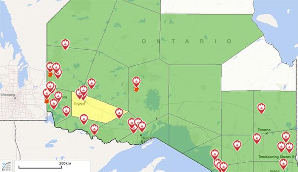 May 14 2016 Northwestern Ontario Wildfire Update