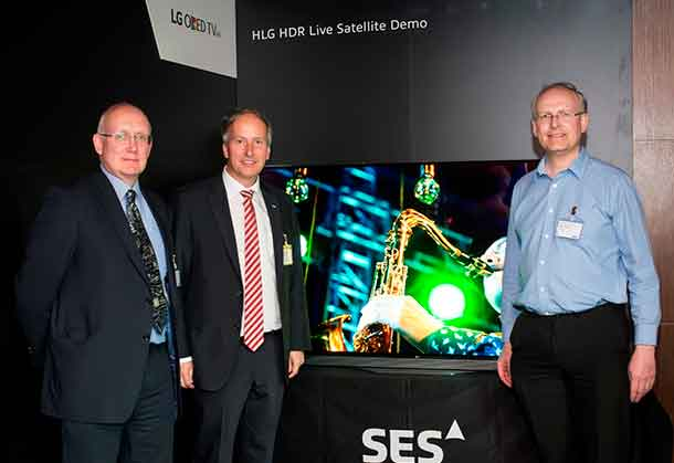 LG Electronics (LG) is collaborating with the British Broadcasting Corporation (BBC) and satellite operator SES. to host a demonstration of High Dynamic Range (HDR) broadcast technologies at the ninth SES Industry Days conference this week in Luxembourg.