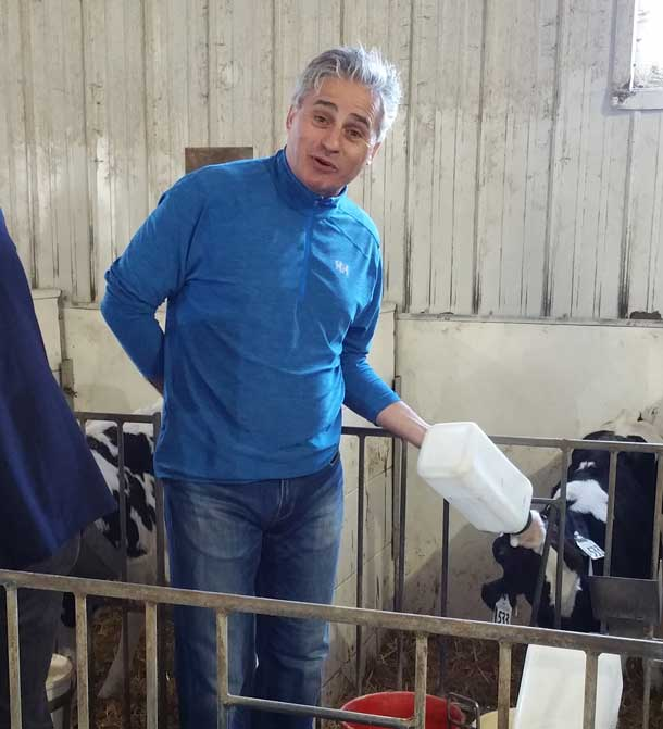 Minister Bill Mauro at Slate River Dairy