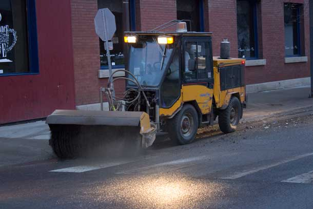 Cleaning the sidewalks and roadway cuts back on dust and makes our city more inviting to walk or shop