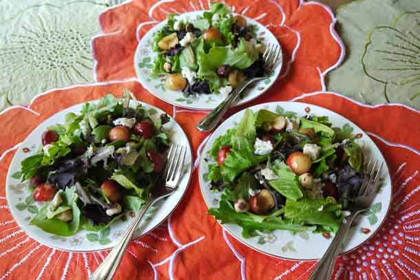 Salads topped with cherries. Credit: Copyright 2016 Brooke Jackson