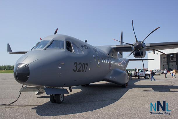 Airbus C295 at the Wasaya Airways Hanger at Thunder Bay International Airport on Thursday June 23rd.
