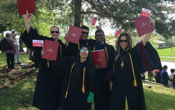 Over 1500 students graduated from Confederation College at the Convocation ceremony held in Thunder Bay on June 3. Back row, left to right: Derek Antoniszyn , Ron Kelly, Tessin Leo, Ashley Nurmela Front row: Chahat Desai