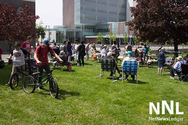 The neighbourhood came together for the picnic, with everyone sharing a good time