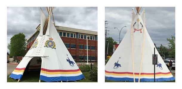 Alberta RCMP Tee Pee