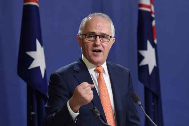 Australian Prime Minister Malcolm Turnbull speaks during a news conference in Sydney, Australia, July 10, 2016. AAP/Paul Miller//via REUTERS