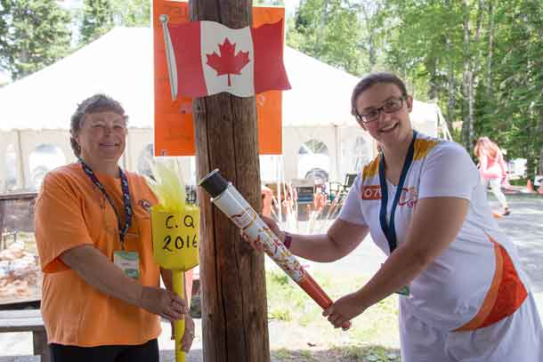 Torch Carrier for the 2016 Camp Quality Olympics