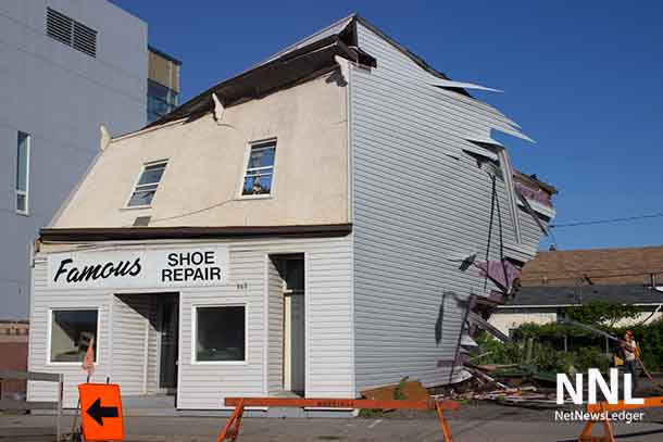 Famous Shoe Repair on Simpson Street was demolished on July 9 2016