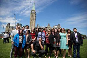 Nishnawbe-Aski Nation (NAN) Youth Group met with Prime Minister Justin Trudeau in Ottawa in early June. photo provided by Jennifer Constant