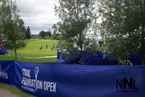 Looking down the 18th hole at the Whitewater Golf Club - Staal Foundation Open 2016