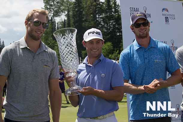 Staal Foundation Open Winner Taylor Moore with the Staal Brothers