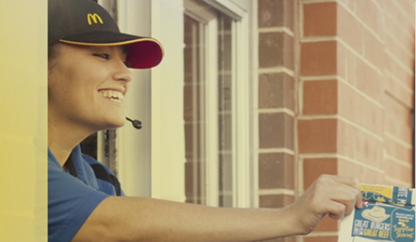 McDonalds celebrates the anniversary of the Drive-Through
