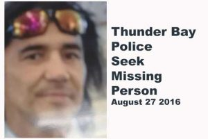 Thunder Bay Police are Seeking the whereabouts of Joseph Taylor