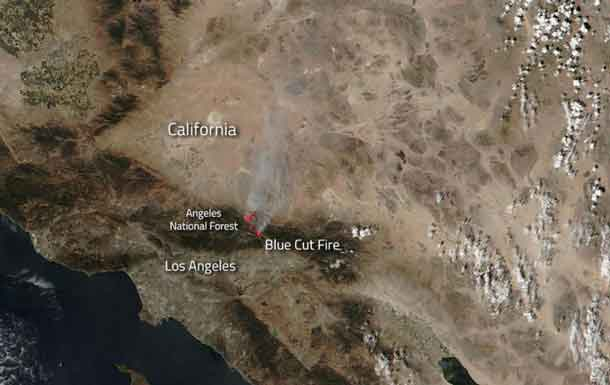 Area Blue Cut Wildfire Now 22% Contained, Still 36000 Acres