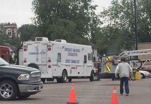 Emergency Measure Unit on scene at fire