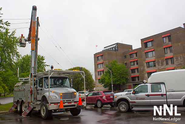 Thunder Bay Hydro crews at work