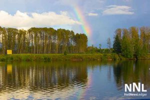 Rainbow over the Kam River on September 17 2016