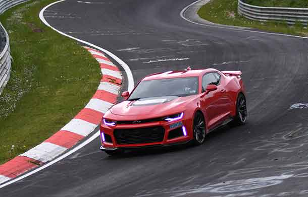 Chevrolet announced today that the 2017 Camaro ZL1 lapped Germany's grueling Nürburgring Nordschleife road course in 7:29.60.