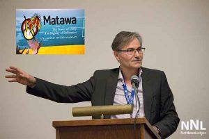 "Professor Chahid speaking to Matawa ""Walking with the Light"" Symposium"