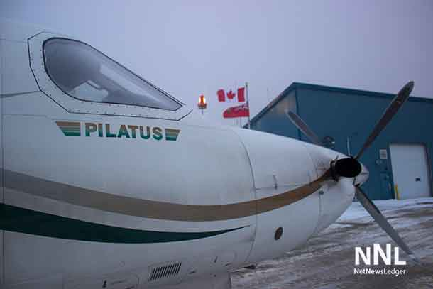 North Star Air PC 12 in Webequie First Nation