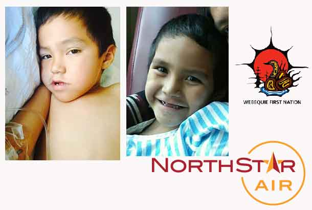 Five-year-old Aidan Jacob, a Webequie First Nation member, has just been diagnosed with a form of cancer