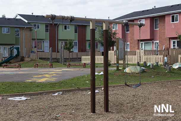 The Playground at Windsor Complex litter all over, much has been there for weeks according to tenants.