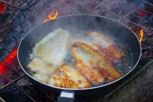 Elders were preparing food for the feast in Bearskin Lake First Nation