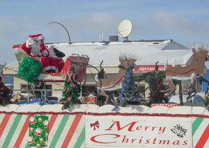 Santa Claus and Mrs. Claus are sharing a few breaks as the elves and team of workers up north prepare for Christmas
