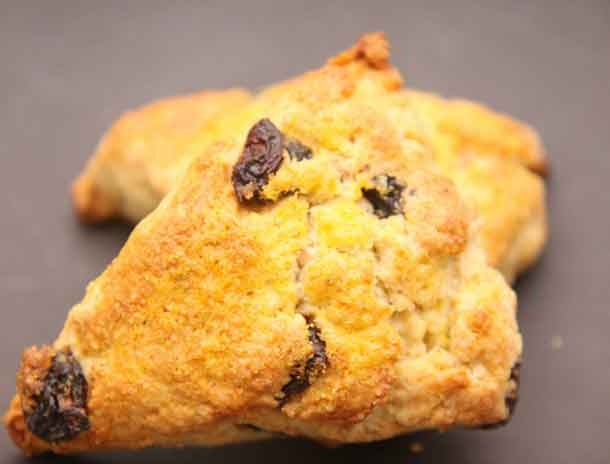 Cream scones with wild currants. Credit: Copyright 2016 Wendy Petty