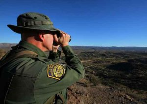 U.S. Border Patrol supervisor Bobby Stine looks out over his station's patrol area atop a hill near Jacumba, California, U.S., November 14, 2016. REUTERS/Mike Blake