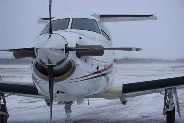North Star Air PC 12 in Fort Severn