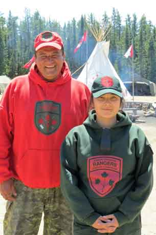 Canadian Ranger with Junior Canadian Ranger
