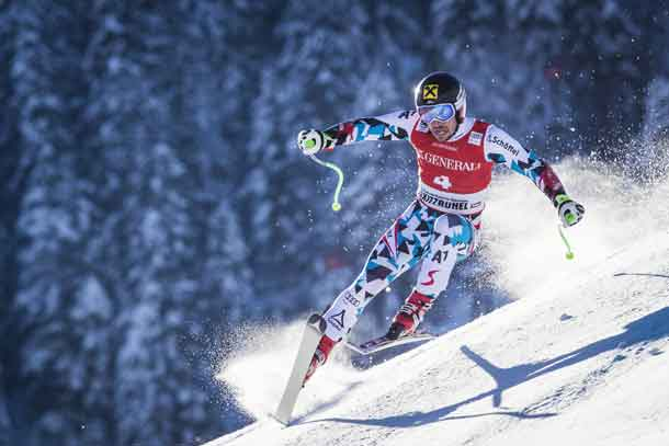 Marcel Hirscher of Austria competes during the super giant slalom at Hahnekamm Rennen in Kitzbuehel, Austria on January 20th 2017 // Samo Vidic/Red Bull Content Pool //