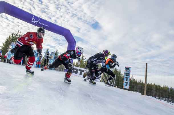 Start of the race in Finland Ice Cross