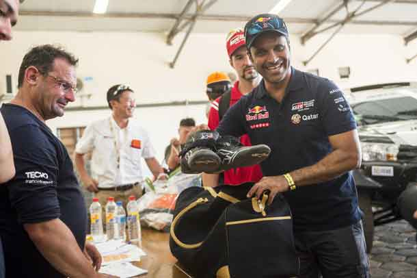 Nasser Al-Attiyah (QAT) of Toyota Gazoo Racing SA is seen during the technical verifications prior Rally Dakar 2017 in Asuncion, Paraguay on December 31, 2016 // Marcelo Maragni/Red Bull Content Pool