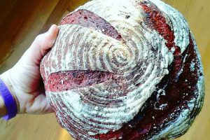 Beet and rye come together to make this bread. Credit: Copyright 2016 Ellie Markovitch