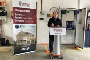 Thunder Bay Hydro announcement on solar powered home