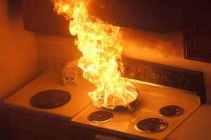 Cooking Fires are a leading cause of fires in homes.