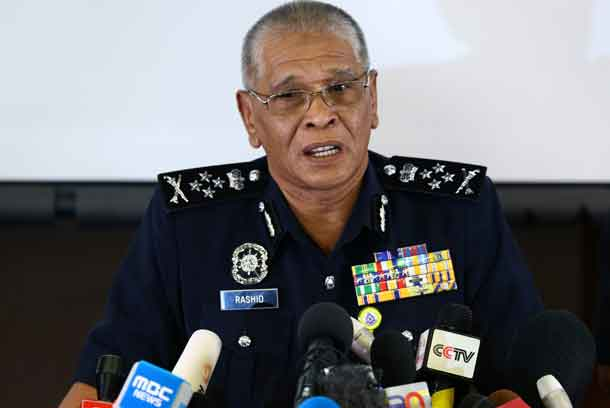 Malaysia's National Police Deputy Inspector-General Noor Rashid Ibrahim speaks during a news conference regarding the apparent assassination of Kim Jong Nam, the half-brother of the North Korean leader, at the Malaysian police headquarters in Kuala Lumpur, Malaysia, February 19, 2017. REUTERS/Athit Perawongmetha