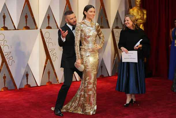 89th Academy Awards - Oscars Red Carpet Arrivals - Hollywood, California, U.S. - 26/02/17 - Justin Timberlake and Jessica Biel. REUTERS/Mike Blake
