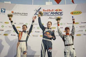 Martin Sonka atop podium in Red Bull Air Race Championship