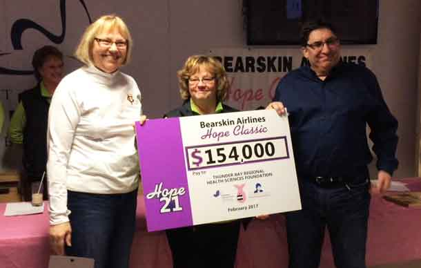 This year's event alone raised $154,000, with all proceeds going to the Northern Cancer Fund to support the Linda Buchan Centre for Breast Screening and Assessment at Thunder Bay Regional Health Sciences Centre. Of the money raised, $133,000 came in through pledges raised by curlers.