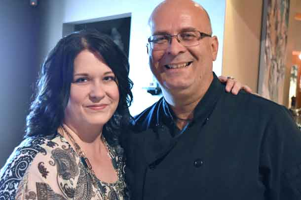 Greek Supper Club Organizer Lisa Sandham with Chef Peter Minaki, an authority on Greek cuisine. Held this past September, the Greek Supper Club raised $11,291 for the Renal Fund at the Thunder Bay Regional Health Sciences Centre to purchase a new Bariatric Dialysis Treatment Chair. An additional $1,300 in event proceeds were directed to the Northern Cardiac Fund.