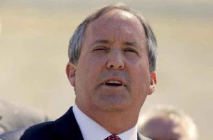 File Photo: Texas Attorney General Ken Paxton speaks outside the U.S. Supreme Court in Washington, D.C., U.S. April 18, 2016. REUTERS/Joshua Roberts/File Photo