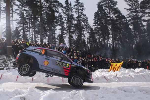 Rally racing action in Sweden