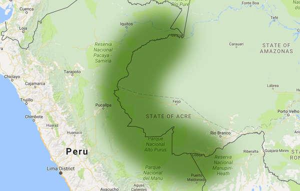 Matsés tribal lands in South America