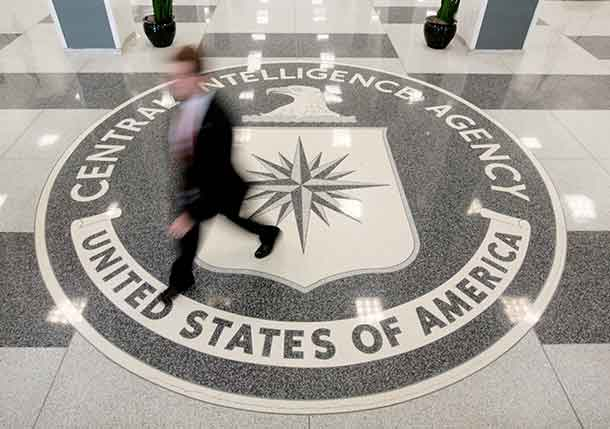 The lobby of the CIA Headquarters Building is pictured in Langley, Virginia, U.S. on August 14, 2008. REUTERS/Larry Downing/File Photo
