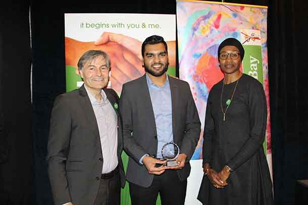 This year's recipient, Farhan Yousaf, is an international student at Lakehead University and is deeply committed to facilitating an environment and culture that is inclusive of all peoples and cultures.